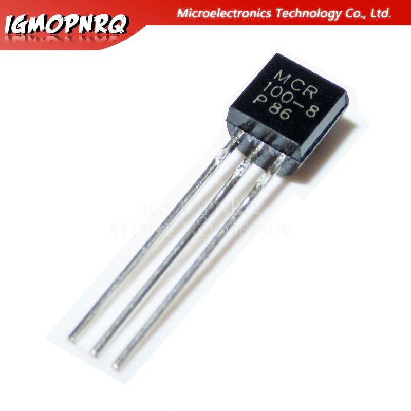50pcs MCR100-8 100-8 MCR100 TO-92 SCRs 600V 800mA New Original