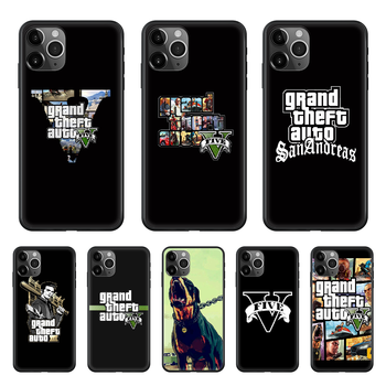 Gta 5 Grand Theft Auto V Phone Case cover For iphone 4 4S 5 5C 5S 6 6S PLUS 7 8 X XR XS 11 PRO SE 2020 MAX black hoesjes pretty image