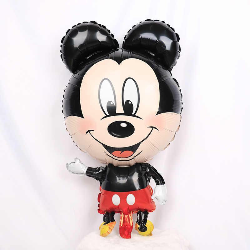 1pc gigante mickey minnie mouse foil balões dos desenhos animados festa de aniversário decorações crianças chuveiro do bebê baloon ar inflável brinquedos