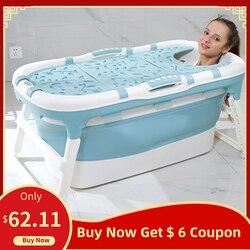 Складная Ванна для взрослых, для двух детей, ведро для ванной, большая ванна для ванной, бытовая, для взрослых, многофункциональная устойчив...