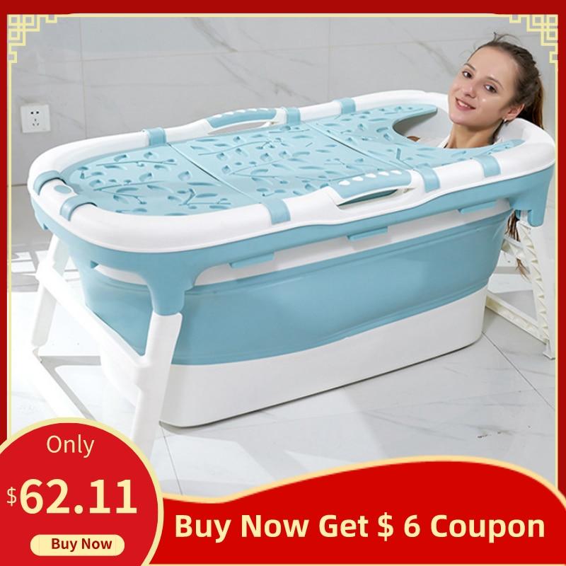 Folding Bathtub Adult Two Children Bath Bucket Large Bath Tub Household Adult Multifunctional Stable Slip Bathtub