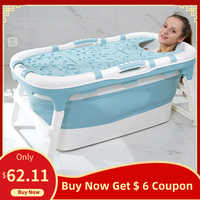 Folding Bathtub Adult Two Children Bath Bucket Large Bath Tub Household Adult Multifunctional Stable Slip Bathtub|Inflatable & Portable Bathtubs| |  -