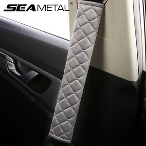 Car Seat Belt Shoulders Pads Covers Cushion Warm Short Plush Safety Belts Shoulder Cover Protection on Auto Interior Accessories