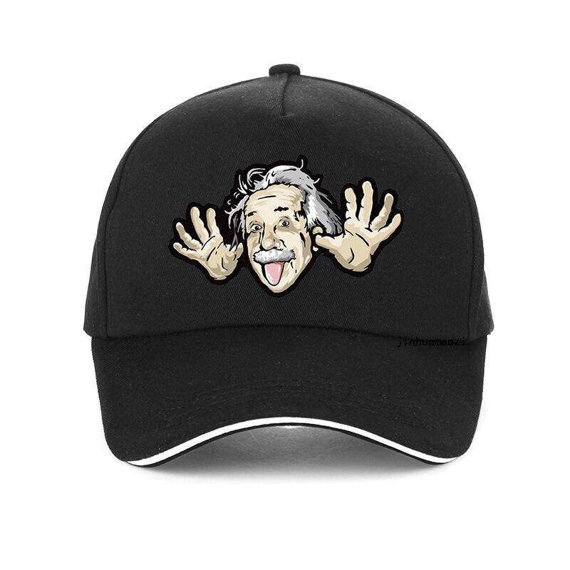Funny Albert Einstein Baseball Cap Men Put His Tongue Out Cartoon Dad Hat Men Women The Big Bang Theory Hip Hop Snapback Hats