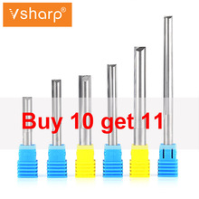 6mm  8mm 10mm Shank Tungsten Carbide 2 Flutes Straight Milling Cutter CNC Tools For MDF, Particleboard, Plywood, PVC, Acrylic