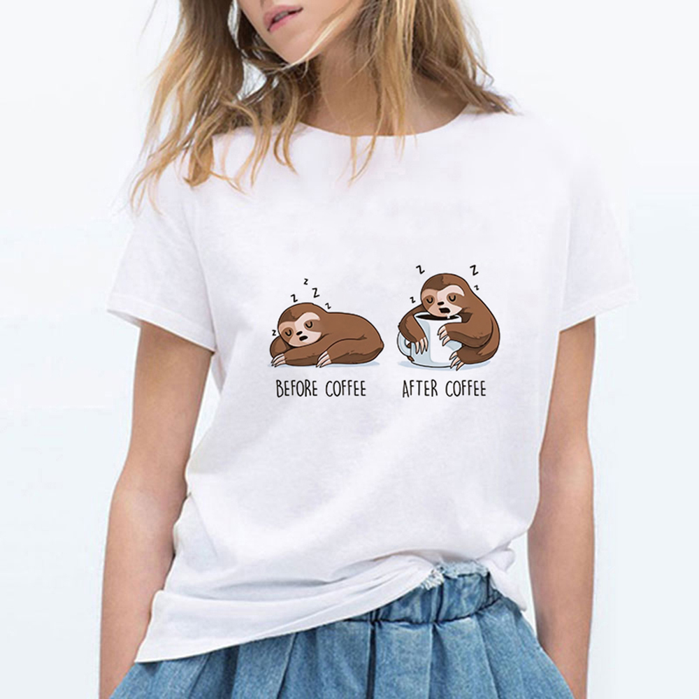 Fall Autumn Sloth With Coffee and Phone Long Sleeve Tee Shirt