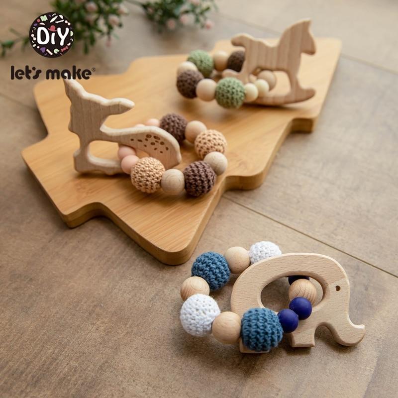 Napravimo 1kom drvene zube za ježeve kukičane kuglice drveni obrt - Igračke za bebe i malu djecu - Foto 6