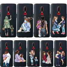 Fashion Baby Mom Girl Super Dad For Oneplus 7 Pro Phone Case 6T 6 5 5T Coque Etui Soft Silicone Protective Cover