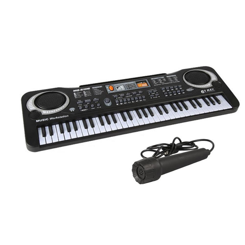61 keys digital electronic keyboard and electric microphone led P0W7 music Y5D7