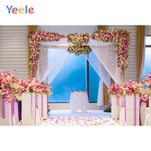 Yeele Wedding Ceremony Hily Party Flowers Curtain Photography Backdrops Personalized Photographic Backgrounds For Photo Studio