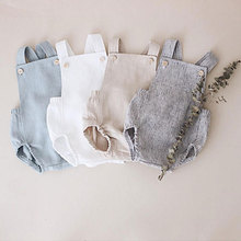Lovely Baby Boys Summer Romper Infant Girl Solid Rompers New One-pieces Kids Boy Suspender 45