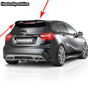Image 3 - For Mercedes A Class A45 AMG W176 FRP Rear Roof Spoiler A180 A200 A220 A250 A260 rear roof Wing 2013 2017