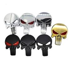 Skull adesivo de metal para corpo inteiro, emblema automotivo para corpo 3d qx80 fx35 g25 q70 qx60 carro estilo