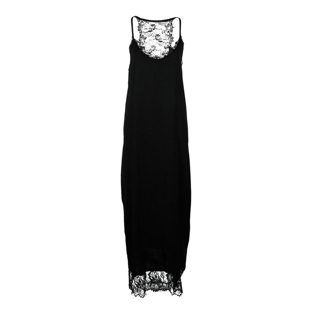 Women Sleeveless Strap Lace Sexy Flare Fishtail Sheath Loose Dress  dress women summer long dress for women Womens dress