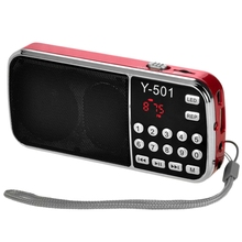 цена на Y-501 Digital Portable Audio LCD Digital FM Radio Speaker USB Mp3 Music Player