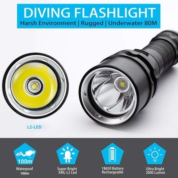 Super bright diving flashlight ip6