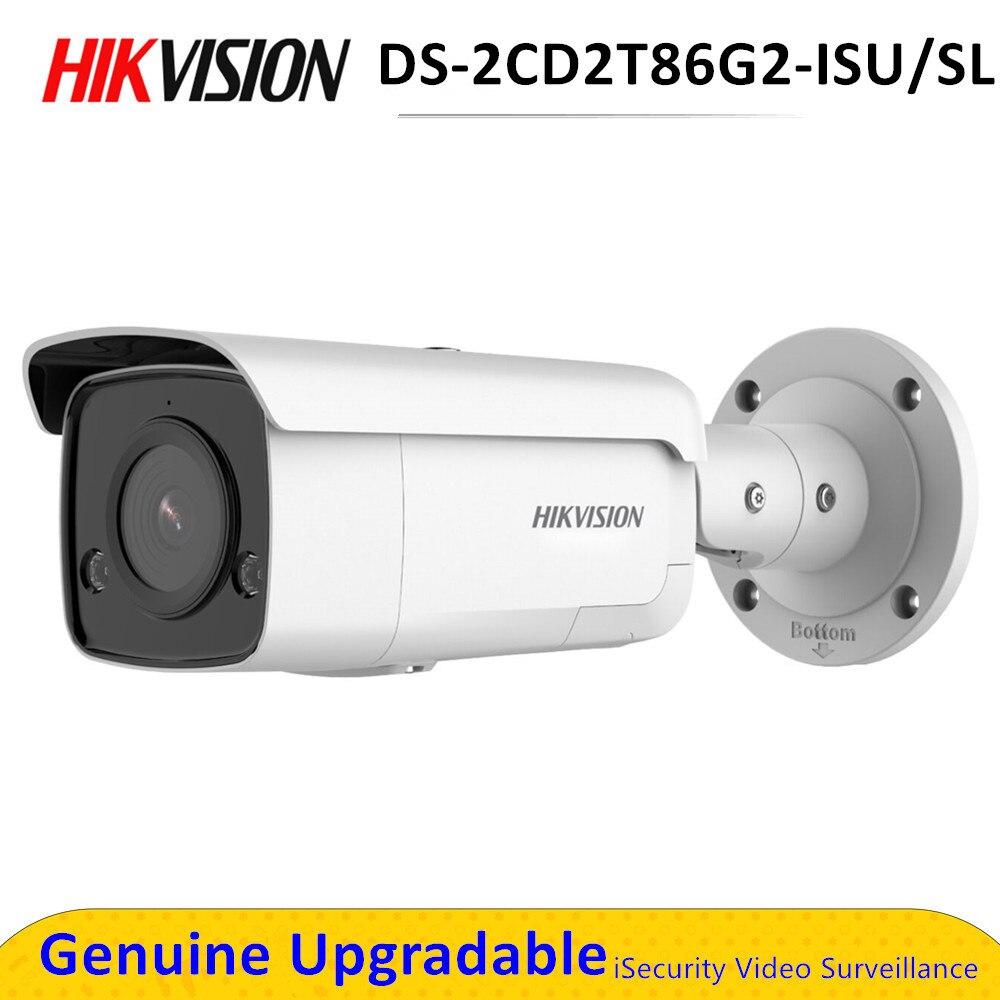 Hik DS-2CD2T86G2-ISU/SL 4K Balle Extérieure AcuSense Réseau Surveillance Caméra de Sécurité 8MP POE Lumière Stroboscopique D'avertissement Sonore