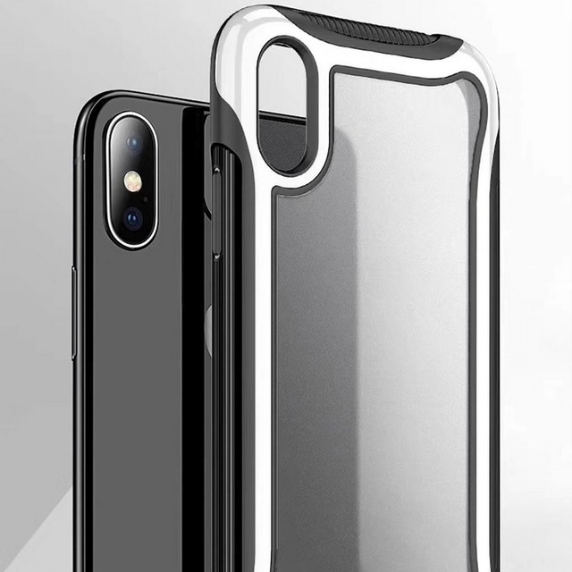 Hybrid Armor Phone Case For iPhone 11 Pro Max 6 6s 7 8 Plus Cases Shockproof Bumper Clear Hard Cover For iPhone XR X XS Max Case