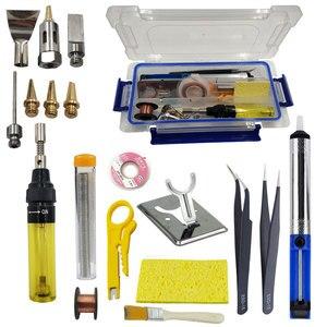 Image 1 - Gas soldering iron kit igniting gas blow tourch soldering solder gun refillable iron gun pen shaped cordless diy butane burns