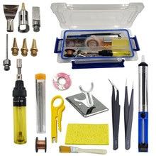 Pistola kit de pistola para soldar de Gas para quemar butano, herramienta para soldar, de hierro recargable, inalámbrica