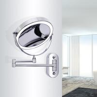 8 inch Bedroom or Bathroom Wall Mounted Makeup Mirror, 1X &10X Magnifying Double Mirror, Touch Button Adjustable LED Light