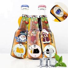 New Year Creative Printing Santa Claus Snowman Bear Wooden Christmas Beer Opener Christmas Gift Dinner Party Decoration Supplies 2018 4pcs set new year snowflake santa claus snowman linen drawstring gift bag christmas decoration dinner table supplies
