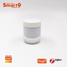 Smart9 زيجبي PIR كاشف حركة الاستشعار تعمل مع تويا زيجبي هاب ، كشف حركة جسم الإنسان ، مدعوم من تويا