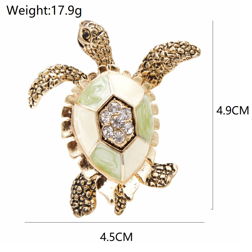CINDY XIANG Rhinestone Turtle Brooches For Women Vintage Enamel Pin Fashion Animal Pin Accessories Creative Deisgn Vivid Jewelry 2