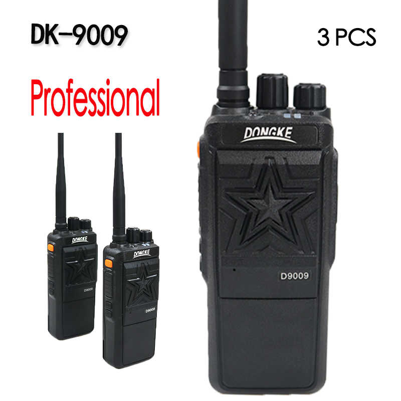 3 pièces DK-9009 profession talkie-walkie Radio Portable 10KM portable puissant radios Radio bidirectionnelle communicateur talkie-walkie
