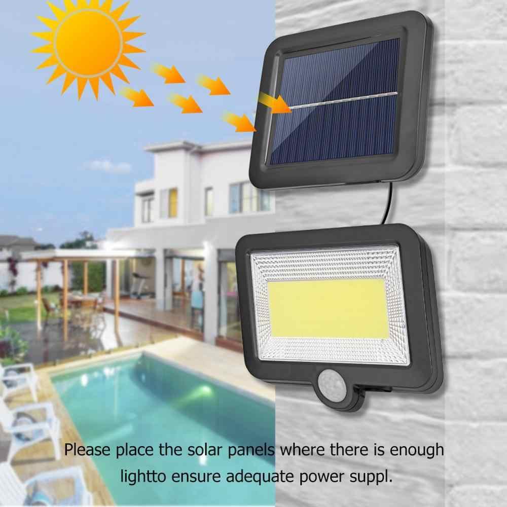 100LED COB Solar Lampe PIR Motion Sensor Wasserdichte Outdoor Pfad Solar Garten Licht Energiespar Straße Wand Lampe Nacht Beleuchtung