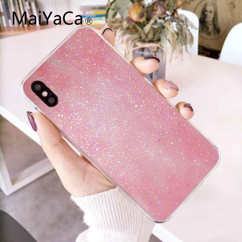 Maiyaca Girly Roze Blauw Sneeuwval Soft Phone Cover Voor Iphone 11 Pro Max 8 7 6 6S Plus X xs Max 5 5S Se Xr 10 Cover