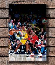 paintings by numbers Posters and Prints Michael Jordan vs Kobe Bryant Hot 40x27 36x24 18inch Art Poster Canvas Home Decor