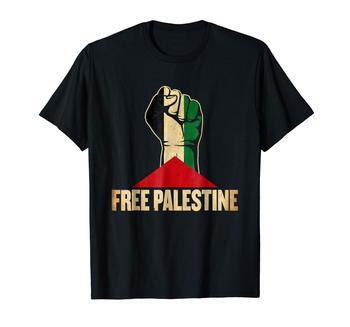 2020 Fashion Mens Short sleeve T Shirt 100% Cotton Free Palestine Palestine Flag T Shirt domestic life in palestine