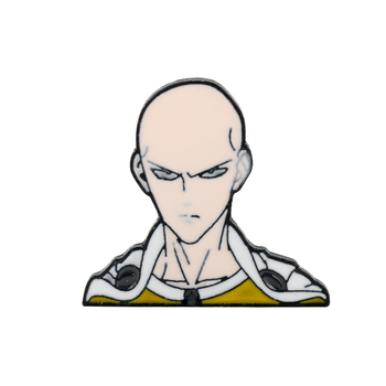 Brooch Lapel Pins Comic ONE PUNCH-MAN Brooches Saitama Statment Enamel Pin Metal Budge Pin Jewelry Cosplay Pins Brooch For Kids image