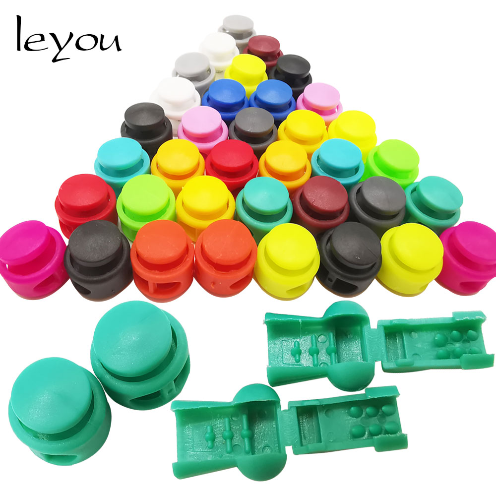 Leyou 12PCS Drawstring Stopper Cord Lock Clamp Shoelace Accessories Bag Accessories Toggle Clip Stopper Shoelace Buckle Buttons