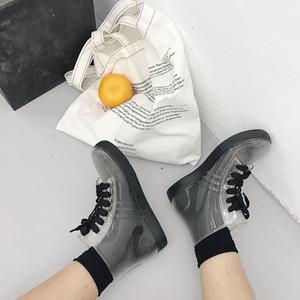 Image 3 - SWYIVY Women Rainboot 2019 New Fashion PVC Rain Boots Women Ankle Boots Transparent Shoes Woman Non slip Waterproof Sneakers