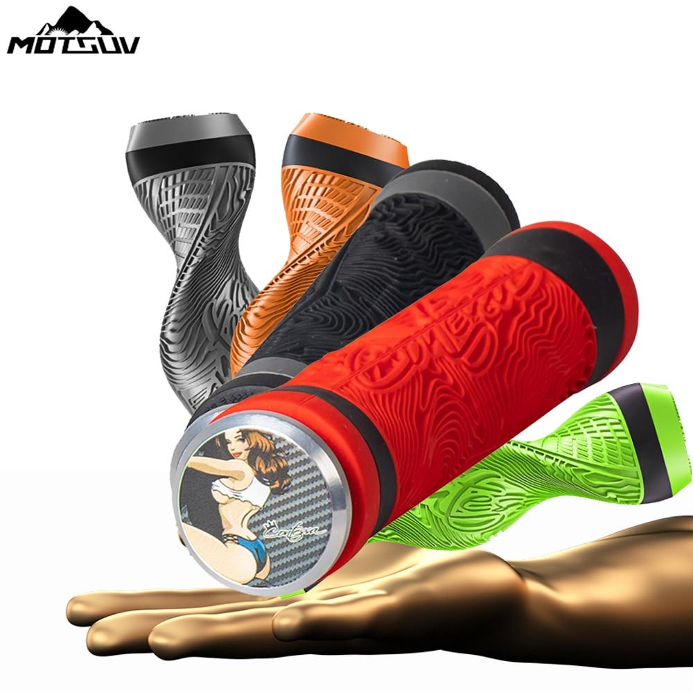 MOTSUV MTB Pure Silicone Handlebar Bicycle Grips Gel Durable Shock-Proof Anti-Slip for Road MTB Bike BMX Handle Bar Grip 1 Pair
