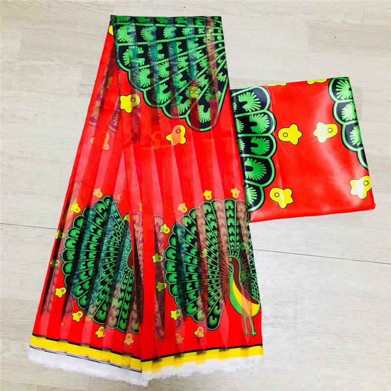 뜨거운 판매가 나 스타일 새틴 실크 직물 organza 아프리카 왁스 디자인 6 야드! J61785