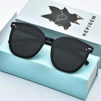 HEPIDEM 2019 New Acetate Round Sunglasses Retro Men Gentle Brand Designer Sun Glasses for Women Vintage Mirrored UV400 Six Bears