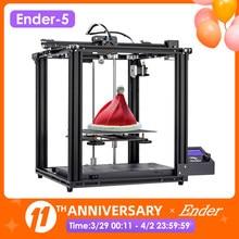 Creality-Máquina de impresión 3D Ender-5 para interiores, impresora con placa de base magnética de gran tamaño, fácil instalación, función de apagado y reanudar automático