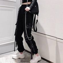 tiktok jogger high waist Cargo Pants women sweatpants Korean style plus size 202