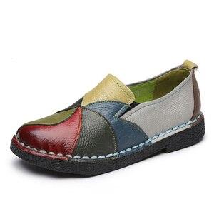 Image 4 - Designer Frauen Schuhe Aus Echtem Leder Flache Damen Sommer Mokassins Weibliche Slip Auf Casual Leder Müßiggänger Alpargatas De Mujer 2020