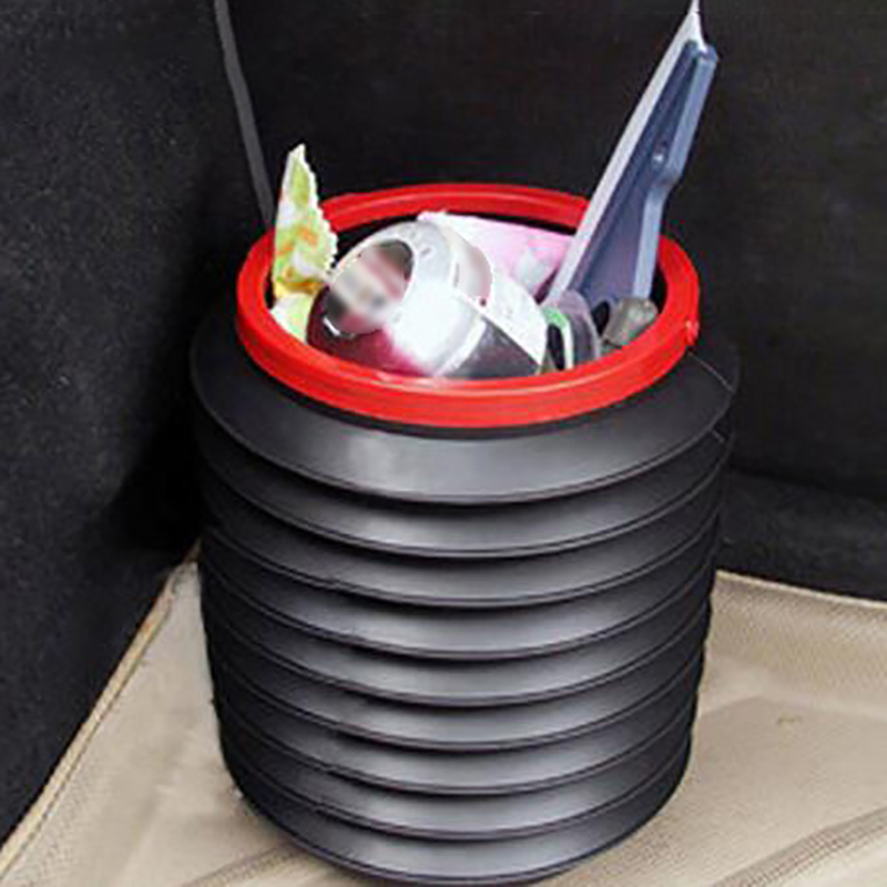 Foldable Car Trash Can Auto Storage Bag RV Trash Bag Wastebasket Container Garbage Bin Car Accessories Para Auto Rubbish