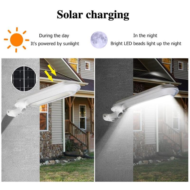 500LM güneş enerjili LED sokak lambası ışık çok fonksiyonlu hareket sensörü duvar lambası istikrarlı çalışma güvenilir avlu bahçe dekorasyon - title=