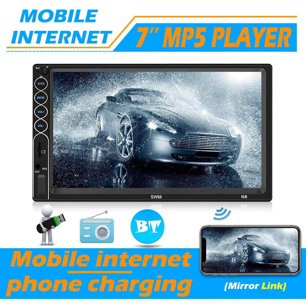 SWM Mobil Player N6 2 DIN Mobil Multimedia Player 7 Inch Layar Sentuh 2din Stereo Video MP5 Player Bluetooth USB AUX FM Radio Kamera