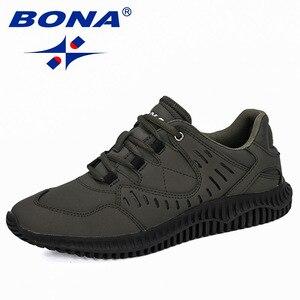 Image 4 - BONA 2019 New Designers Uomini Spaccato Della Mucca Casual Scarpe Uomo scarpe Outdoor A Piedi Scarpe Da Ginnastica Tenis masculino Zapatillas Hombre Maschio Alla Moda