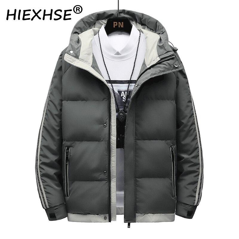 2021 Men Winter Casual Thick Warm Waterproof Cotton Jacket Parkas Men Autumn New Outwear Windproof Hat Hooded Parkas Jacket Men