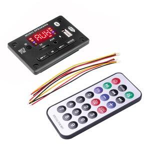 Image 5 - Bluetooth 5.0 MP3デコーダのデコードボードモジュール5 v 12v車のusb MP3プレーヤーwma wav tfカードスロット/usb/fmリモートボードモジュール