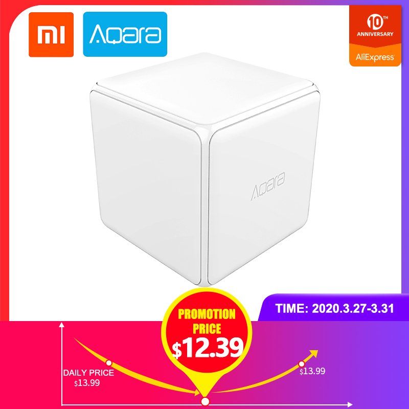 Xiaomi Mi Aqara Original Magic Cube Controller Zigbee Version Controlled Six Actions Smart Home Device Work with Mijia Home App|Smart Remote Control| |  - title=