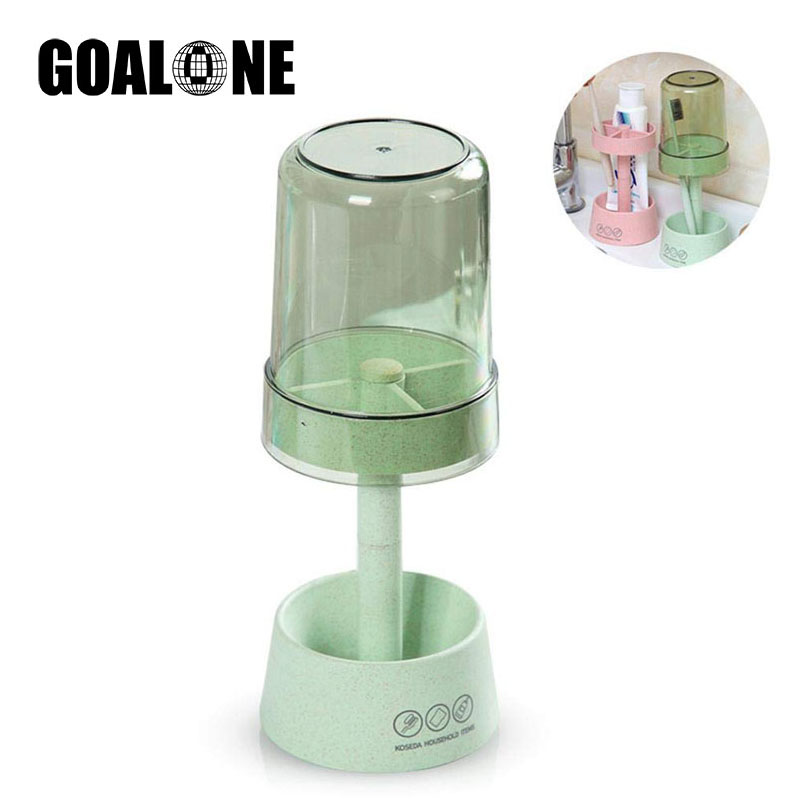 Wheat Straw Toothbrush Holder Bathroom Accessories Lamp Wah Cup Toothpaste Holder Storage Organizer Home Decoration Accessories in Toothbrush Toothpaste Holders from Home Garden